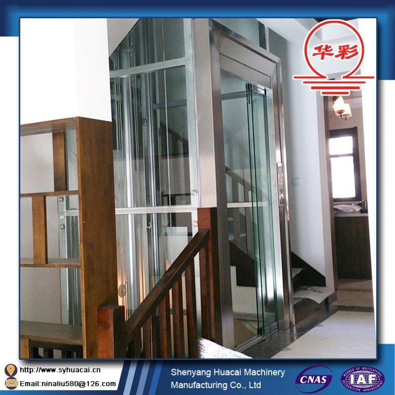 HC-320 Home for 5 Person outdoors CE factory cost selcom elevator door