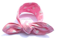 Boutique new style fashion accessories, baby pink polka dot bunny ear headbands