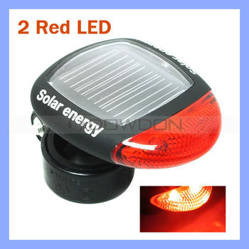 2 LED Solar 4 Modes Light Bicycle Bike Rear Light