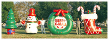 2014 Inflatable Christmas Tree , Inflatable Stocking with Goodies, Inflatable Christmas Decoration