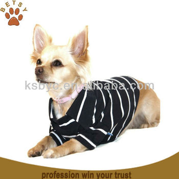 Black stripe Pet dog golf polo shirt clothes
