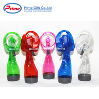 Funny Colorful Portable Handhold Water Spray Mini Fan for Promotions