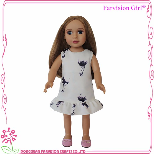 Real Doll 18 inch Wig changing DIY fashion doll for kids