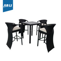 Sample available factory directly round table and chair set rattan dining set wicker