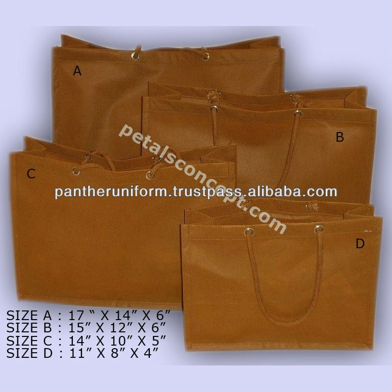 Cotton cord handle non woven shopping bag