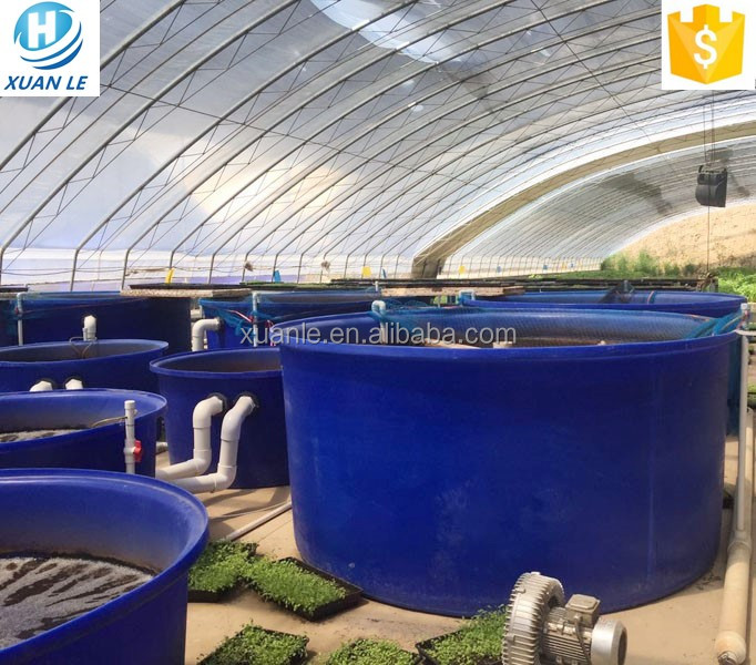 500 - 5000litre food grade large commercial plastic <strong>fish</strong> farm stock tank for aquaculture