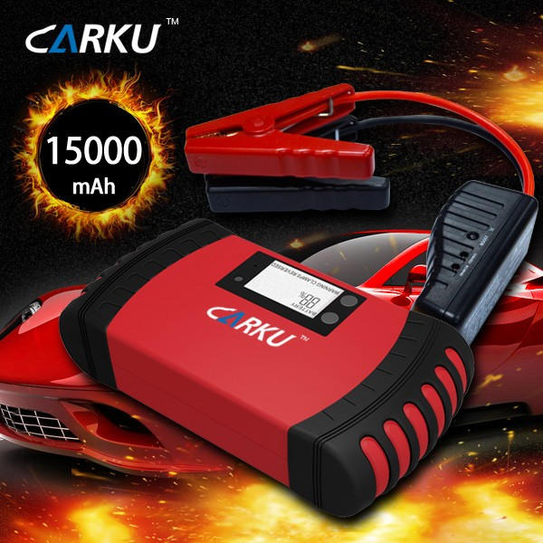 15000mAh built-in intelligent protection portable multi-function auto jump starter with LCD displayer