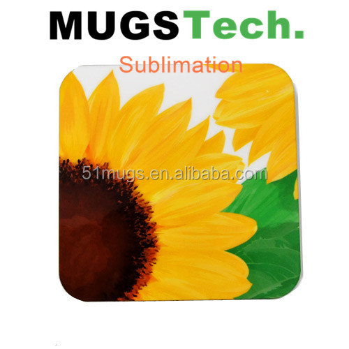 Sublimation MDF coaster with cork for mugs