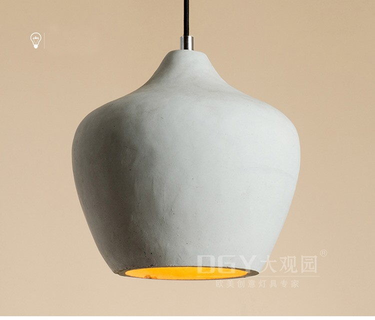 hot sell wholesale concrete lights cheap cement small chandeliers