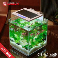 SUNSUN new patent nano view fish tank artificial grass for fish tank for office