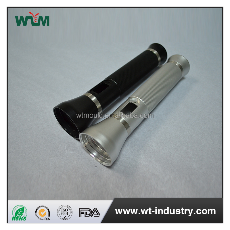 OEM aluminium part cnc machined flashlight shell