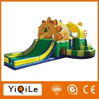 Fierce lion design chongqi inflatable air castle bounce playground