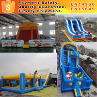Inflatable double lane slip slide giant inflatable slide for sale giant inflatable slide