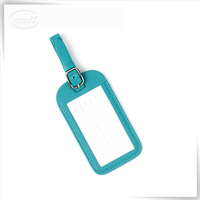 Customized promotion fashion PU leather luggage tag leather
