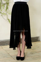 2015 New Fashion Women Dress black Chiffon long skirt Sexy irregularity Dress, latest maxi skirt/chiffon maxi dress 2015
