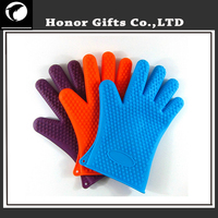High Temperature Cooking Oven Gloves Silicone BBQ Mitts