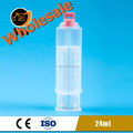 24ml 1:1 retractable syringe for resin adhesive glue