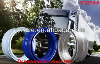 demountable wheel rims with TUV approved 8.25X22.5 9.00X22.5 7.5X22.5