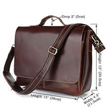 7108R Dropshipping Multifunctional Laptop Brifcase, Leather Office Bags for Men