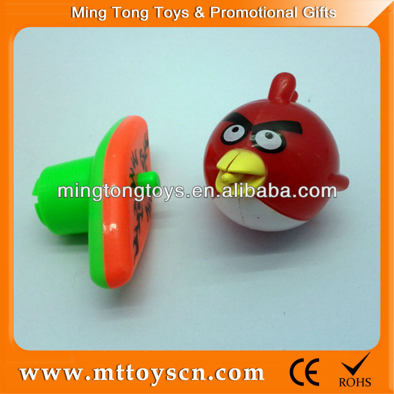 Bird type plastic spinning top toys
