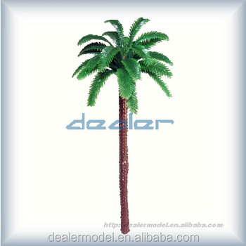 Architectural model materials green coconut palm tree