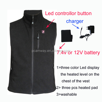 rechargeable battery ski motorcycle heated vest