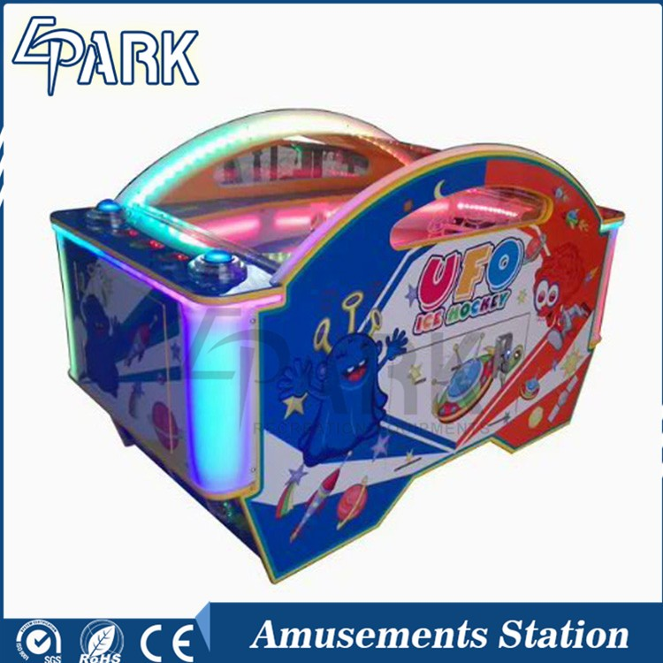 2016 Hot Sale Amusement Park Equipment Arcade Indoor Coin Operated Mini Game Machine Kids UFO Ice Air Hockey