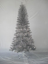 Silver pet christmas tree indoor silver tips xmas tree with iron base