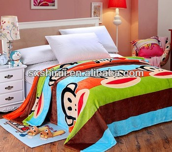 Children Cartoon Soft Coral Fleece Blankets