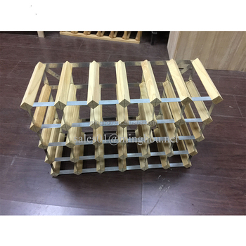 30 bottle galvanized steel taeda pine wine rack 30 bottle wood module wine rack