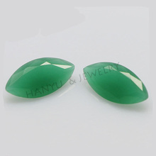 Marquise cut glass gemstones synthetic malaysian jade