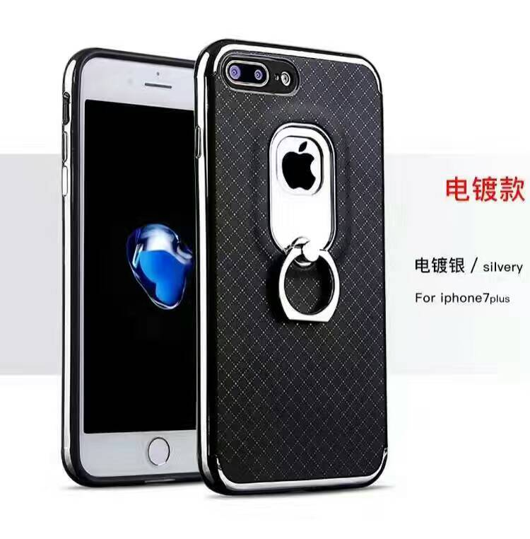 2017 new coming lozenge pattern oil paint technique ring buckle mobile phone case for Samsung S8 PLUS