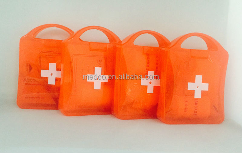 MK-FAK01 Wholesale Plastic Medical Waterproof Mini First aid Kit Bag with Accessories First Aid Box Emergency First Aid Kit