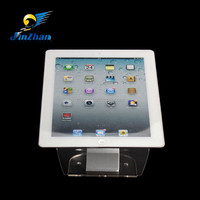 clear acrylic alarm display device with sensor security alarm for tablet stand retail secure
