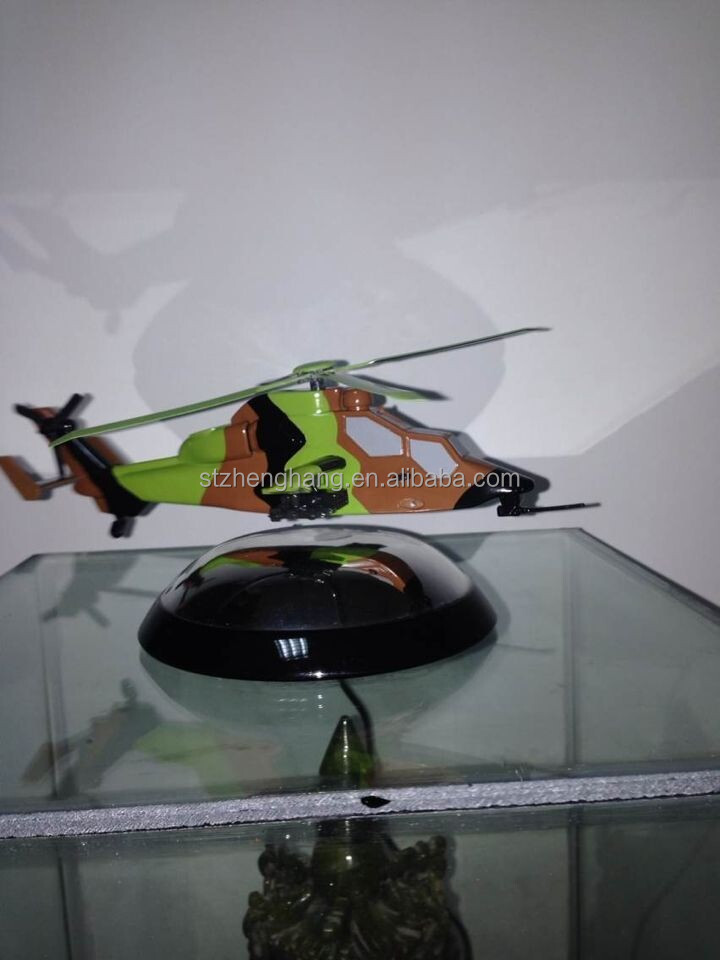 Maglev AH-64 Apache magnetive flaoting helicopter magnets model gifts,decoration collection plane model, aviation souvenir