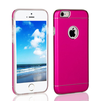 Custom mobile case for iphone 6s ,combo aluminum +tpu dual layer protective mobile case
