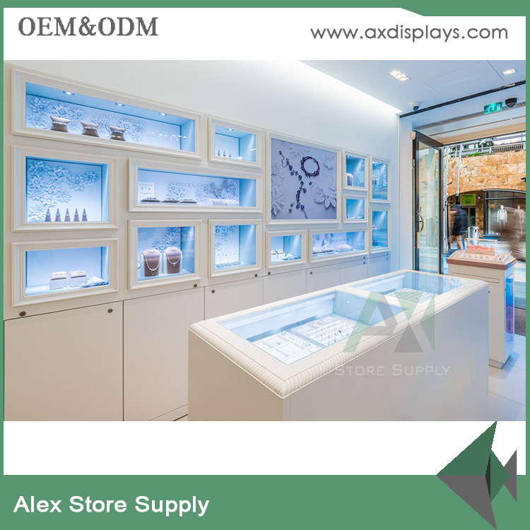 custom tempered glass display jewellery table kiosk jewelry shopping mall