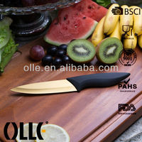 Colored Ceramic Blade Titanium Kitchen Knife Set