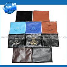 High quality custom printed Satin Leather Zipper Pouch