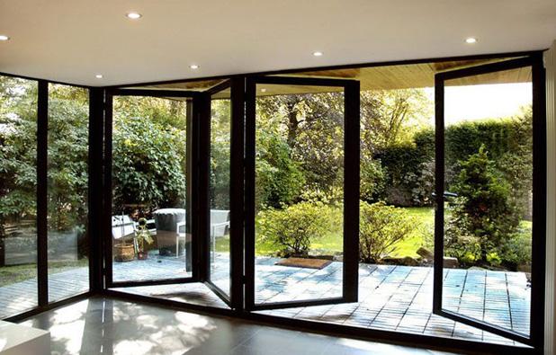 Double Glazing Flush Glass Folding Sliding Door System Buy Folding