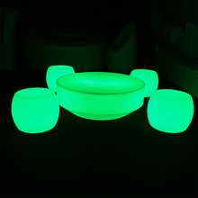 Hot sale bar rechargeable led lighting furniture round bar table