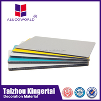 Alucoworld modern exterior plastic composite panel external wood wall cladding