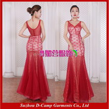 XLL170709 Suzhou factory direct wholesale cheap red lace mermaid long prom dresses 2017