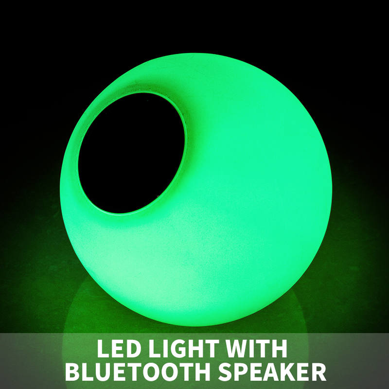 App Control Bluetooth LED flashing light speaker / dimmable bluetooth speaker ball lamp