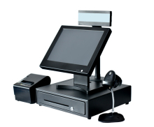 15 Inch All In One Touch Screen Cash Register/Electronic Cashier/ POS Cash Machine