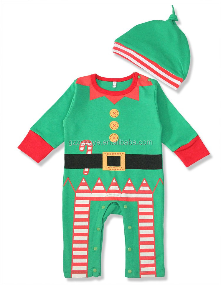 Factory selling baby conjoined Christmas long-sleeved clothes suit garment