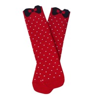 GSW-59 Hot sale colorful dots and bow design anti-odor bamboo sex sexy women socks tube ladies foot socks