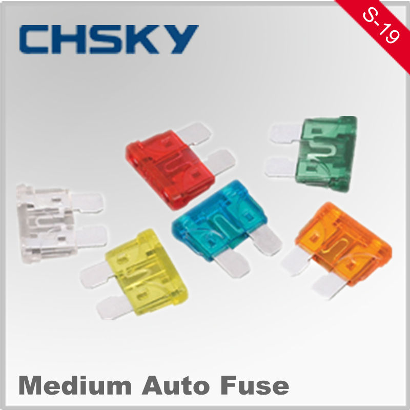 Hot Sale with the high quality 12V 5-35A Medium car fuse S-19