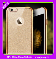 JESOY Electroplate Soft TPU Gel Skin Cover Case For Apple Iphone 6 6+ 6S 6Splus Silicone Glitter Phone Case