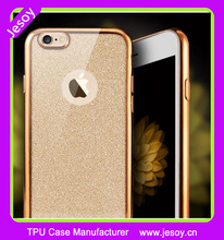 JESOY Electroplate Soft TPU Gel Skin Cover Case For Apple Iphone 6 6+ 6S 6Splus Silicone Glitter Case